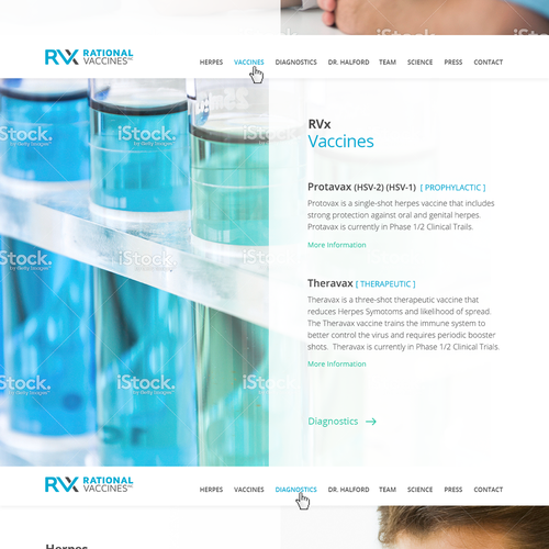 Website design for a World-Changing Vaccine Pharma Company