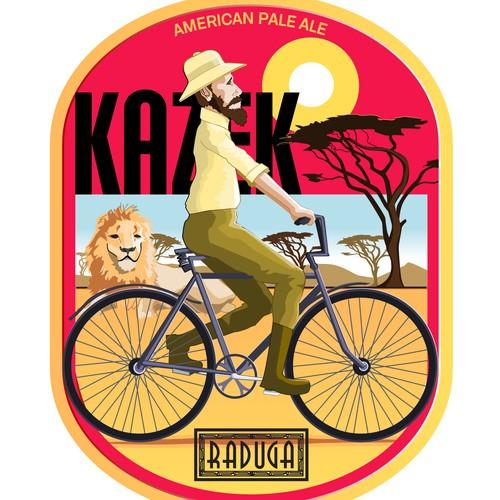 Kazek Pale Ale label contest entry