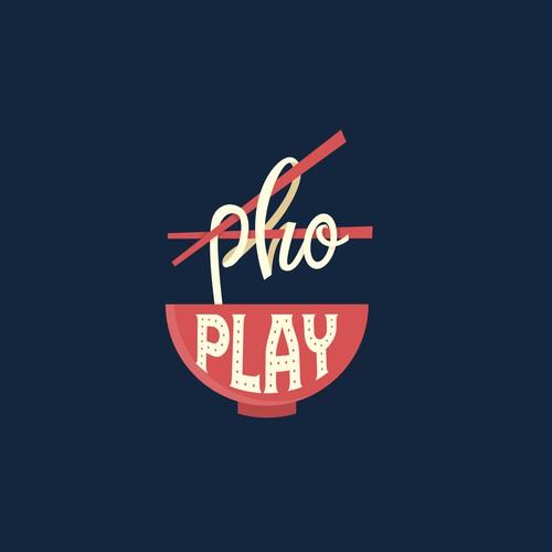 "Logo concept for ""Pho Play"" restaurant"