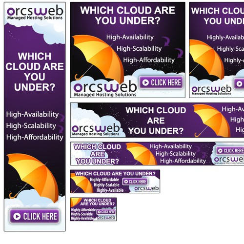 Banner Ads for World's Best Cloud Hosting Product!