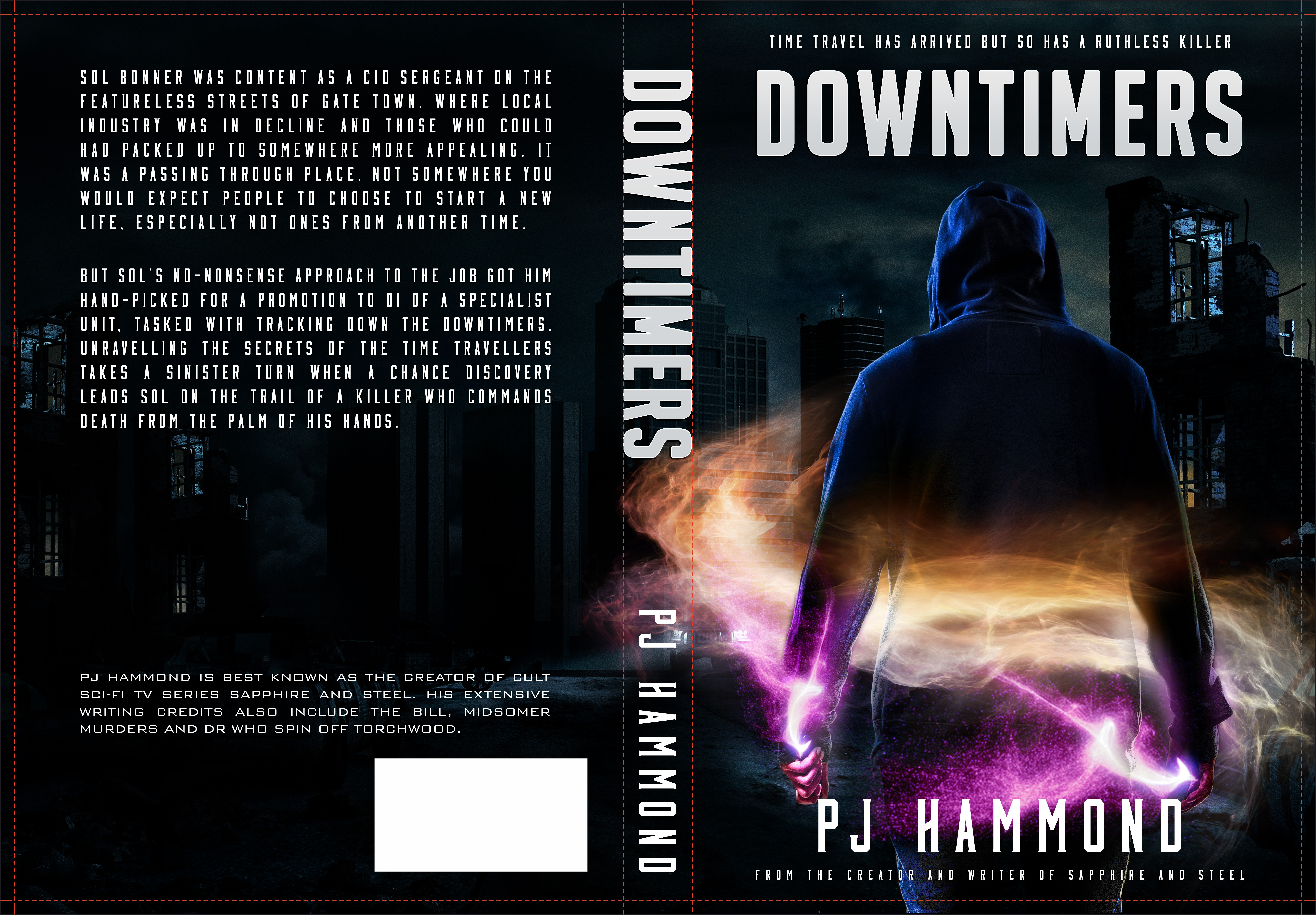 Design a cover for a new sci-fi book by a Torchwood writer