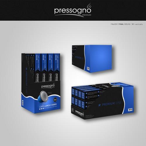 Packaging design for Pressogno Ltd