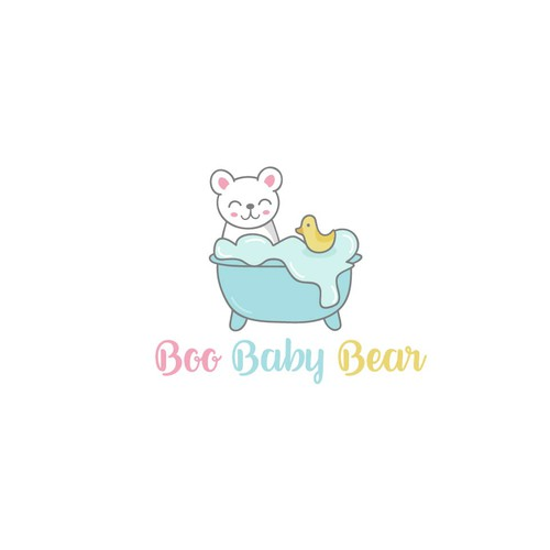 Logo for a baby soap brand.