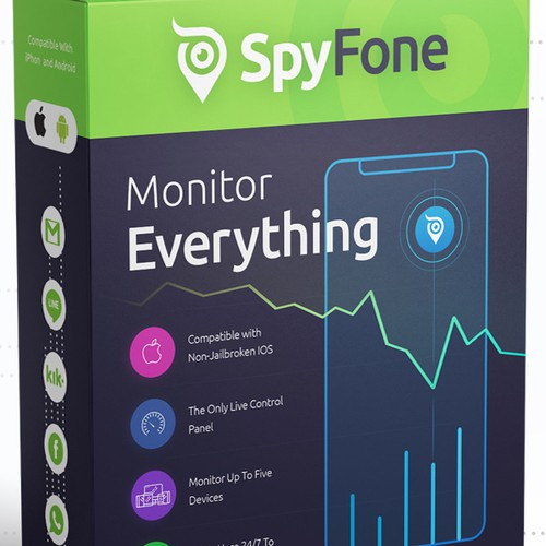 Software Box design for SpyFone.com