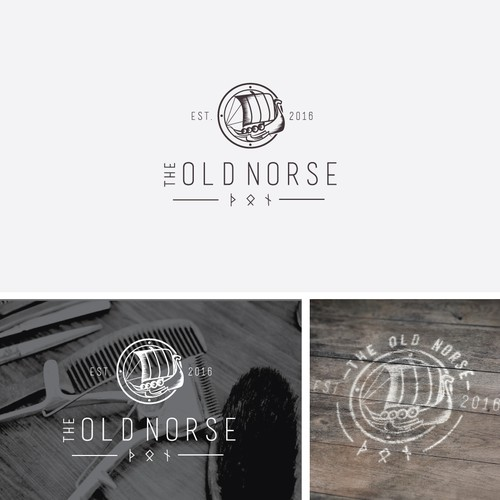 Nordic logo with vintage style