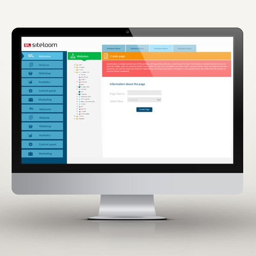 website or app design for SiteLoom CMS