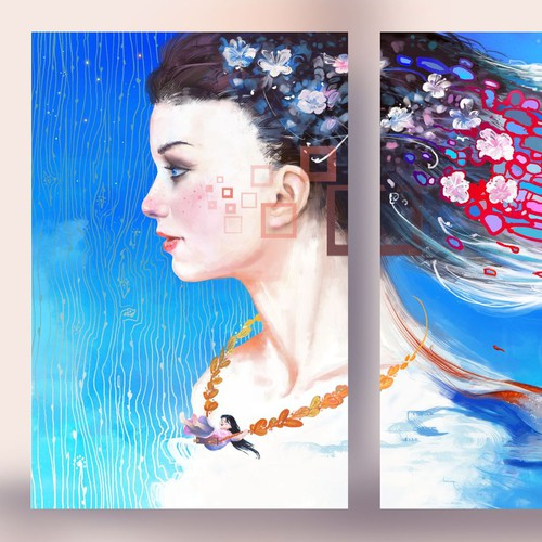 book cover triptych
