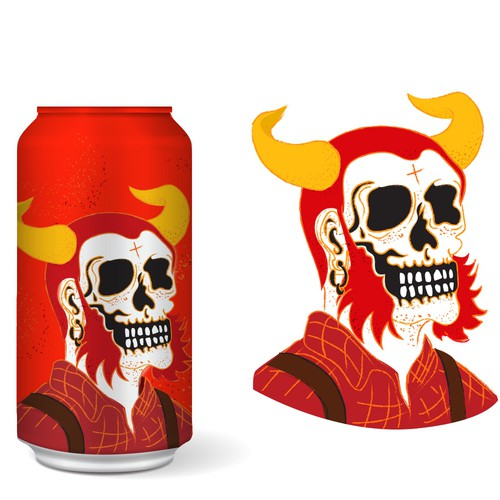 Illustration for a Ginger Beer can