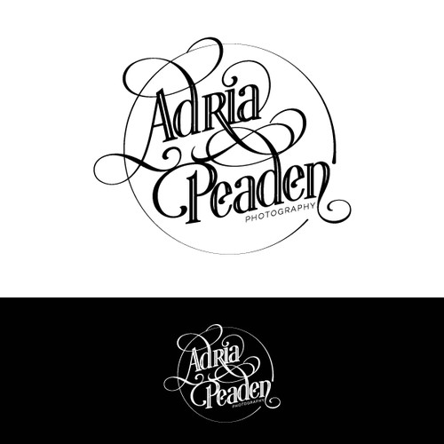 Photography Logo 1920's inspired, vintage, simple shapes with a feminine twist.