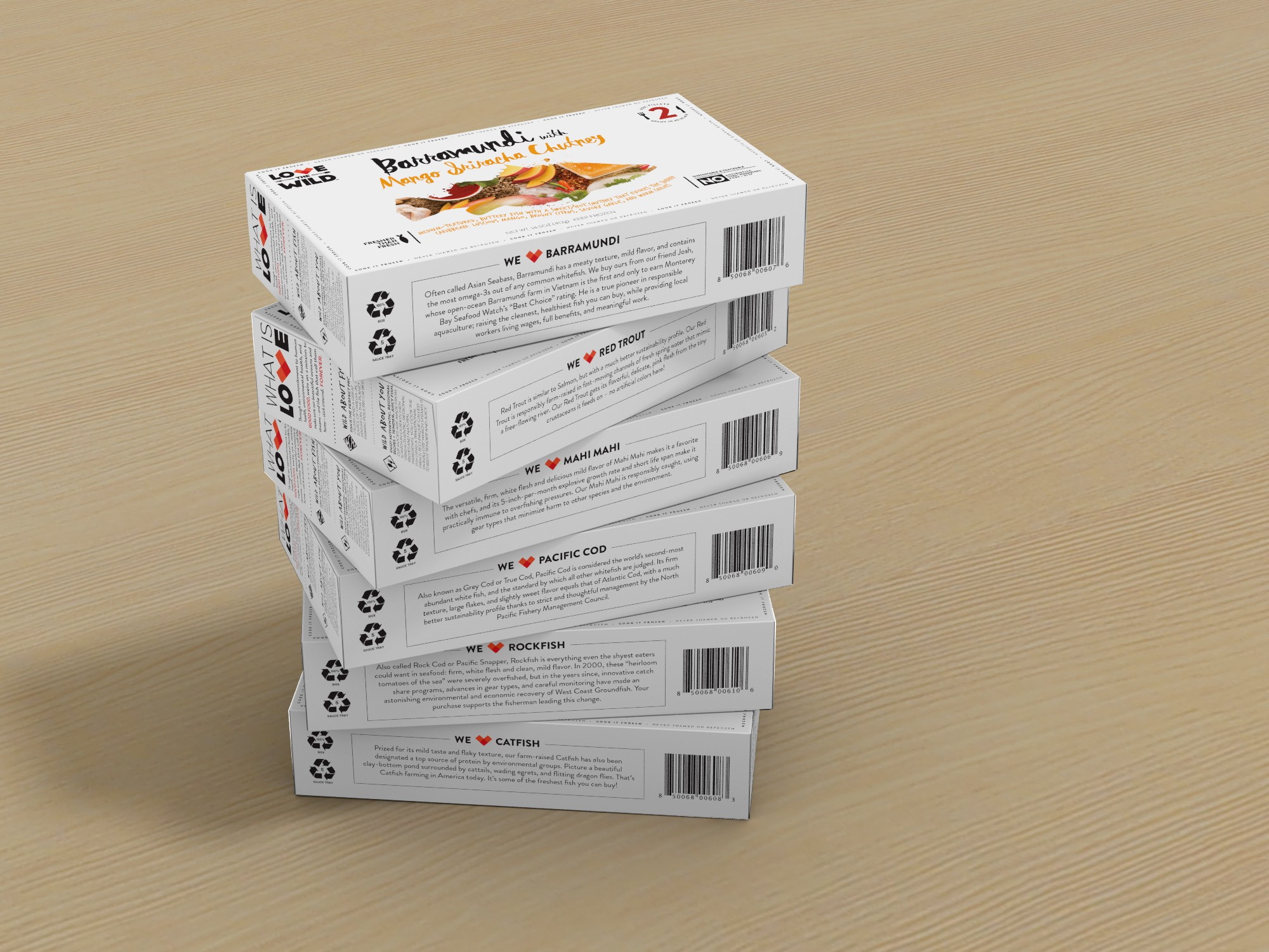 3D renderings of our boxes