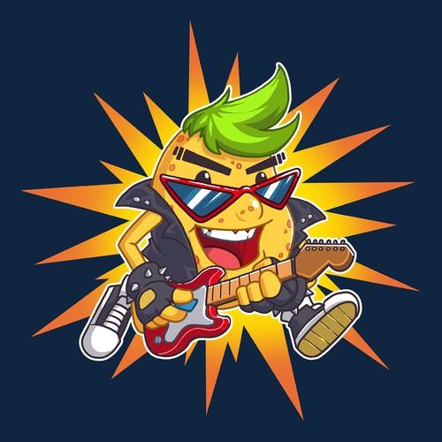 Potato Rockstar mascot