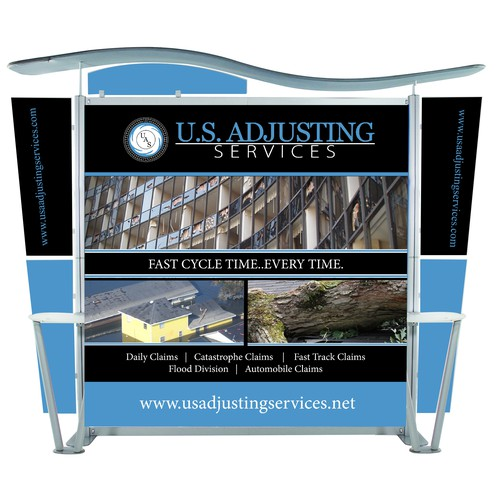 U.S. Adjusting Services Trade Show Booth