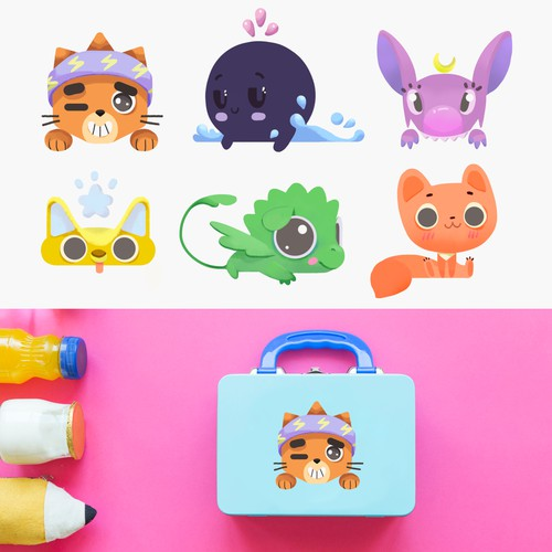 Character design for kids lunchbox