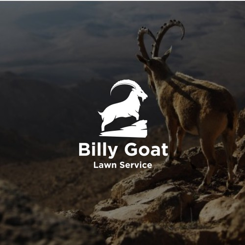 Create a unique and original Goat Design for Lawn Mowing Business