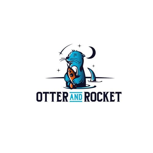"""Logo design for """"Otter and Rocket"""""""