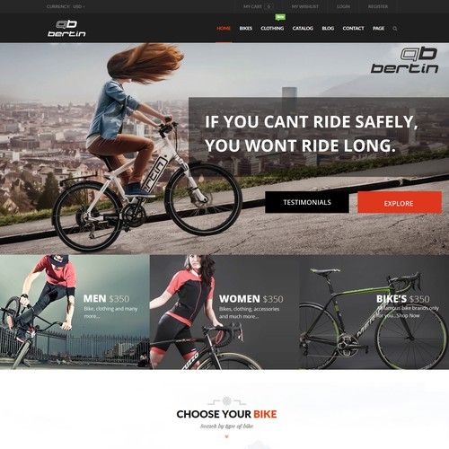 Bicycle brand website