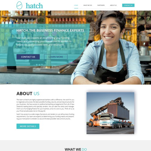 financial services website redeisng