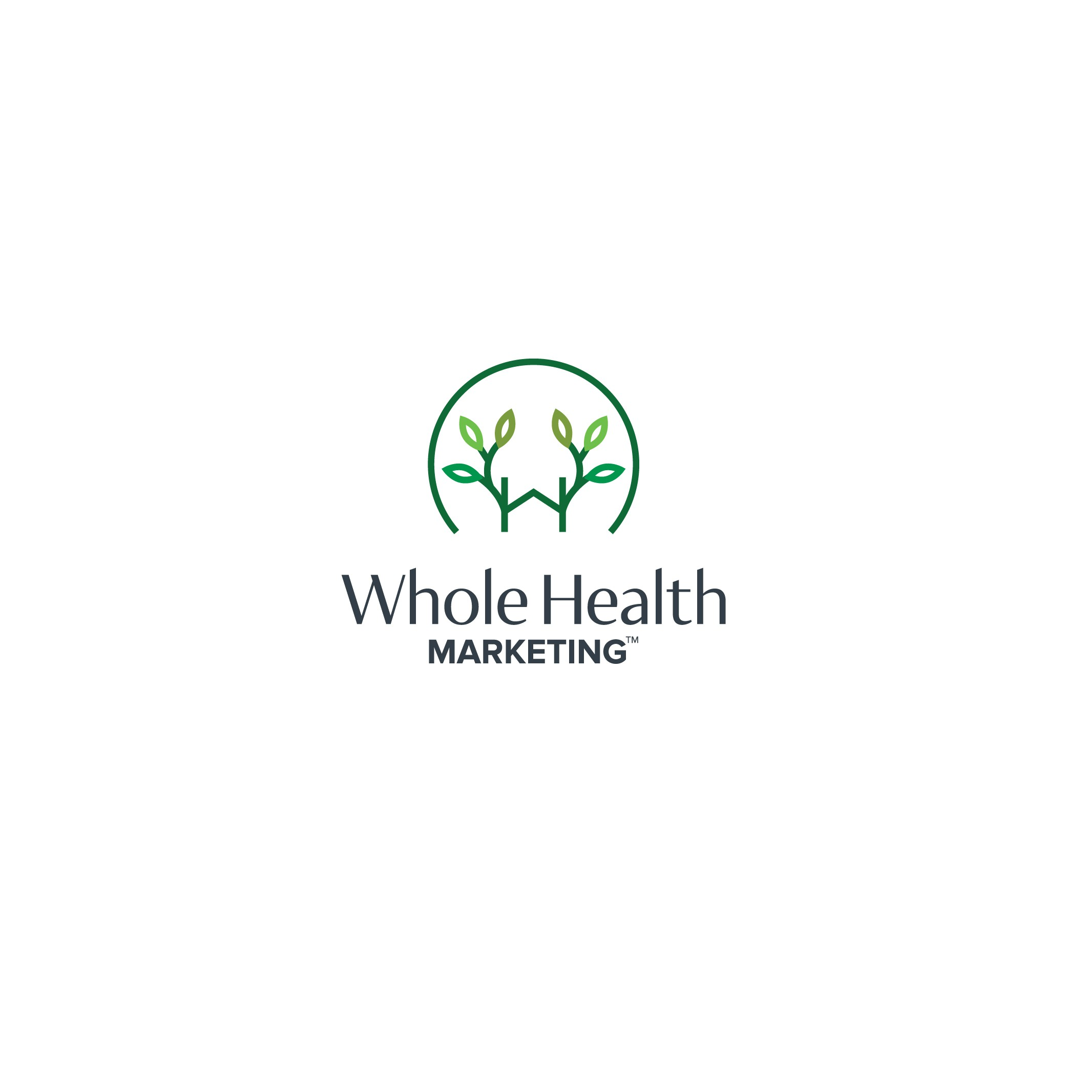 Whole Health Marketing Logo design and Business Card