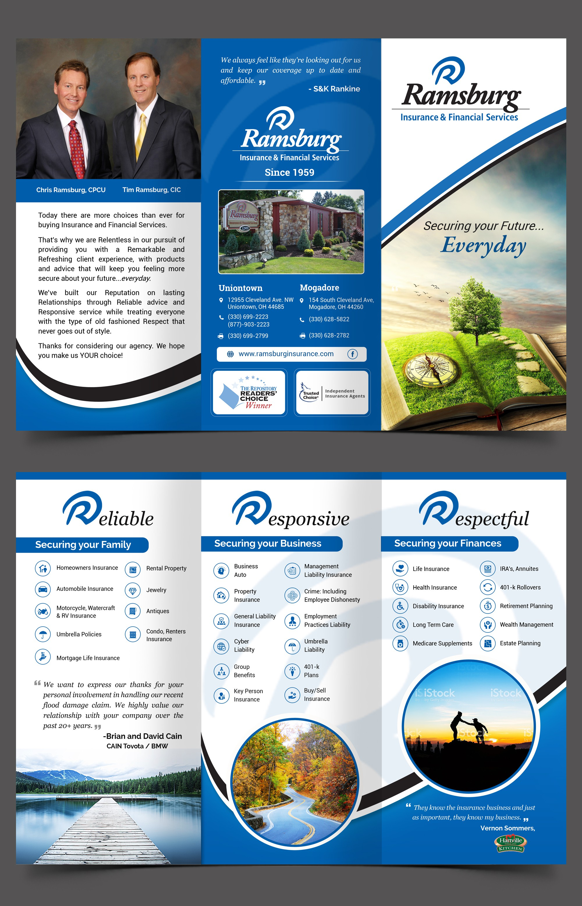 Finishing Touches on Business Brochure