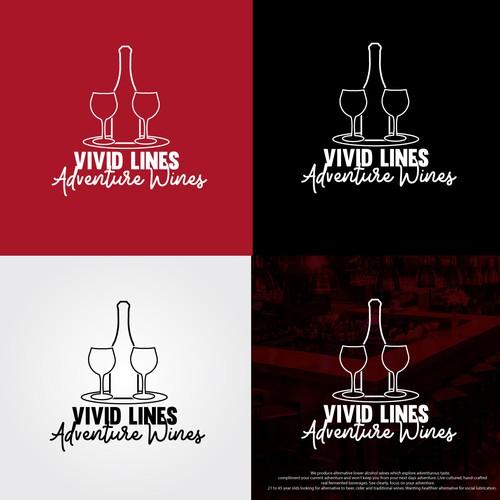Vivid Lines Adventure Wines - Logo