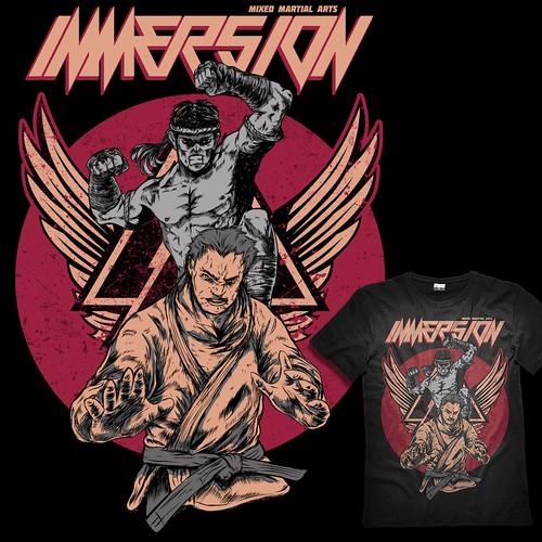 IMMERSION, MMA T-shirt Design
