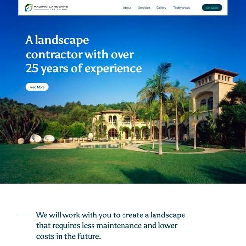 Landscape Website