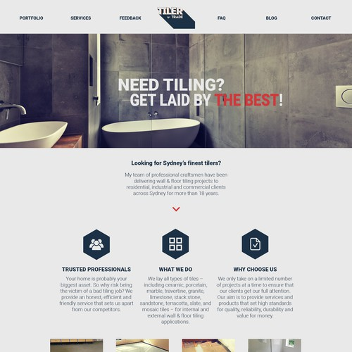 Construction website redesign concept