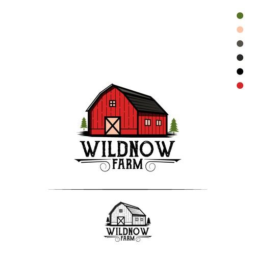 WIldnow farm logo concept