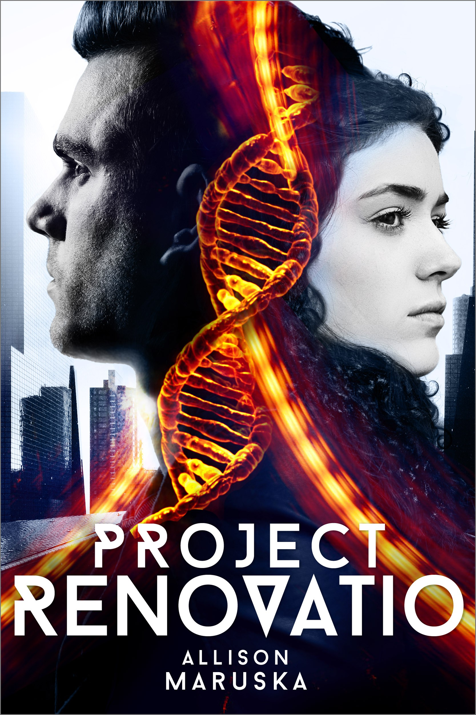 Cover for a Young Adult sci-fi/mystery featuring genetically engineered teens