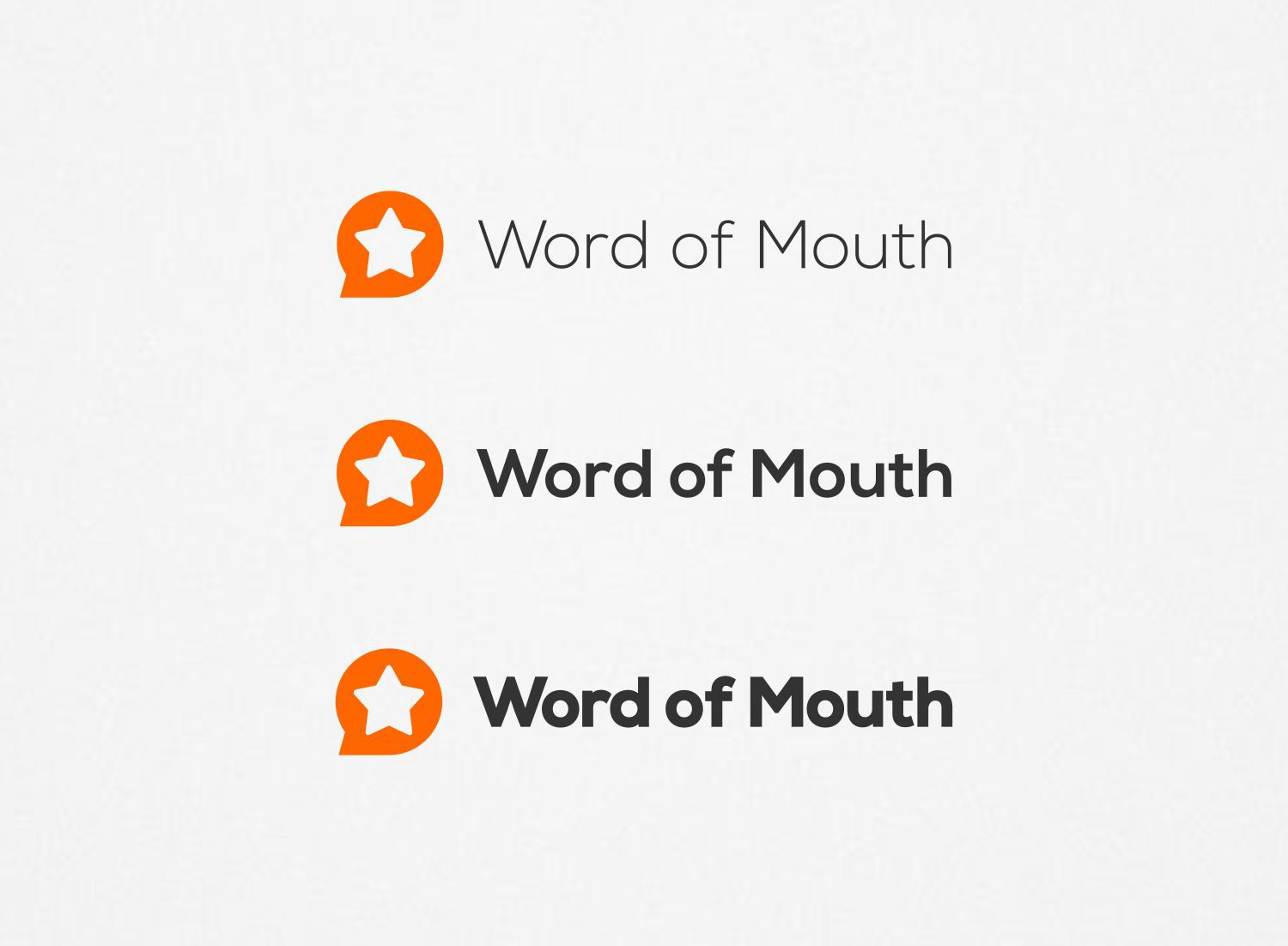Create a market defining logo for Word Of Mouth
