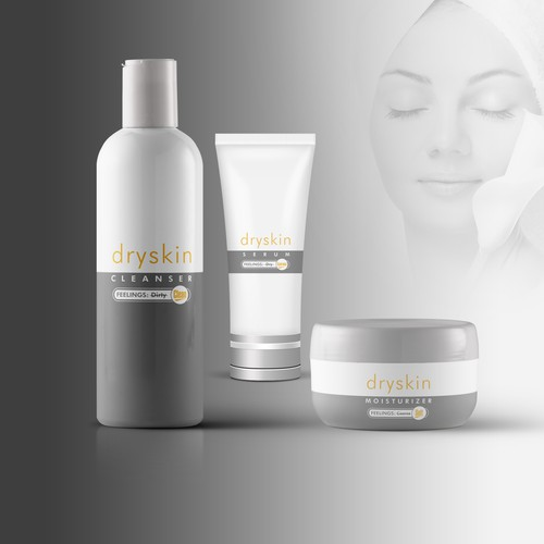 Clean Simple design for skin care company