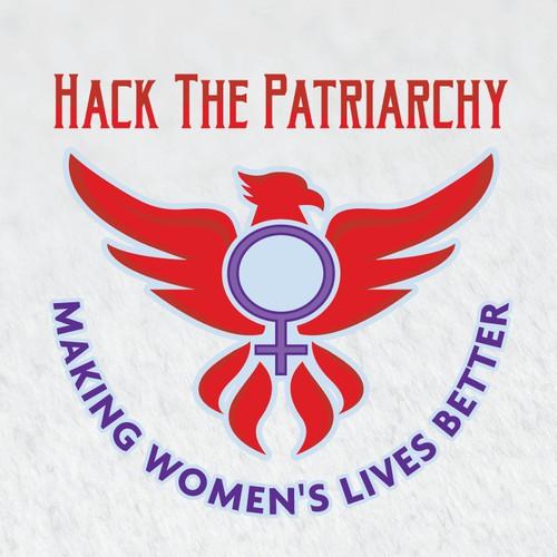 Hack The Patriarchy Logo Design