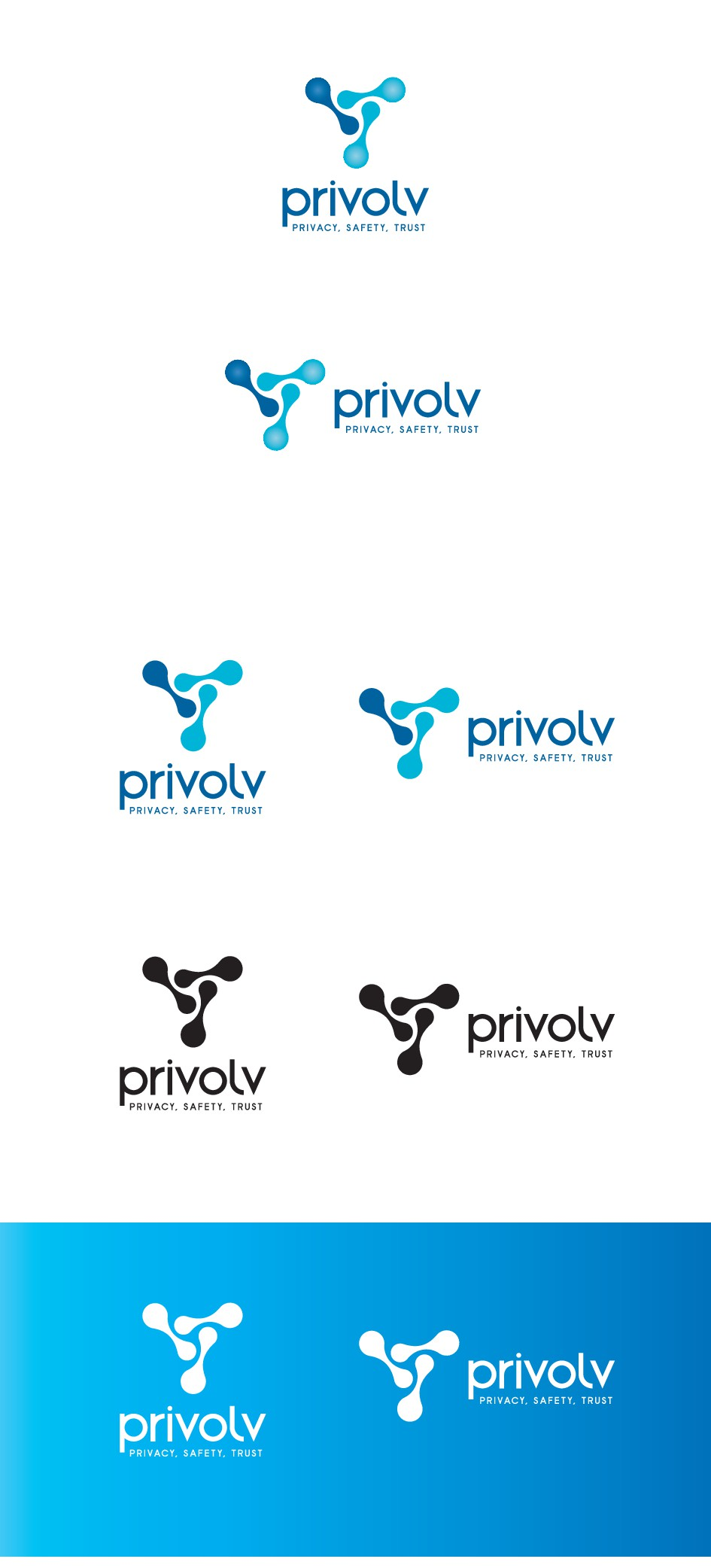 Design a corporate logo for a company that offers the latest in privacy technology