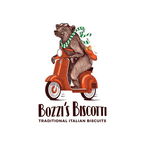 Bozzi's Biscotti logo design