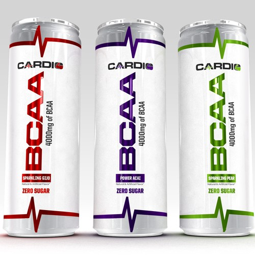 Create sharp and clean sleek can for a new gym drink