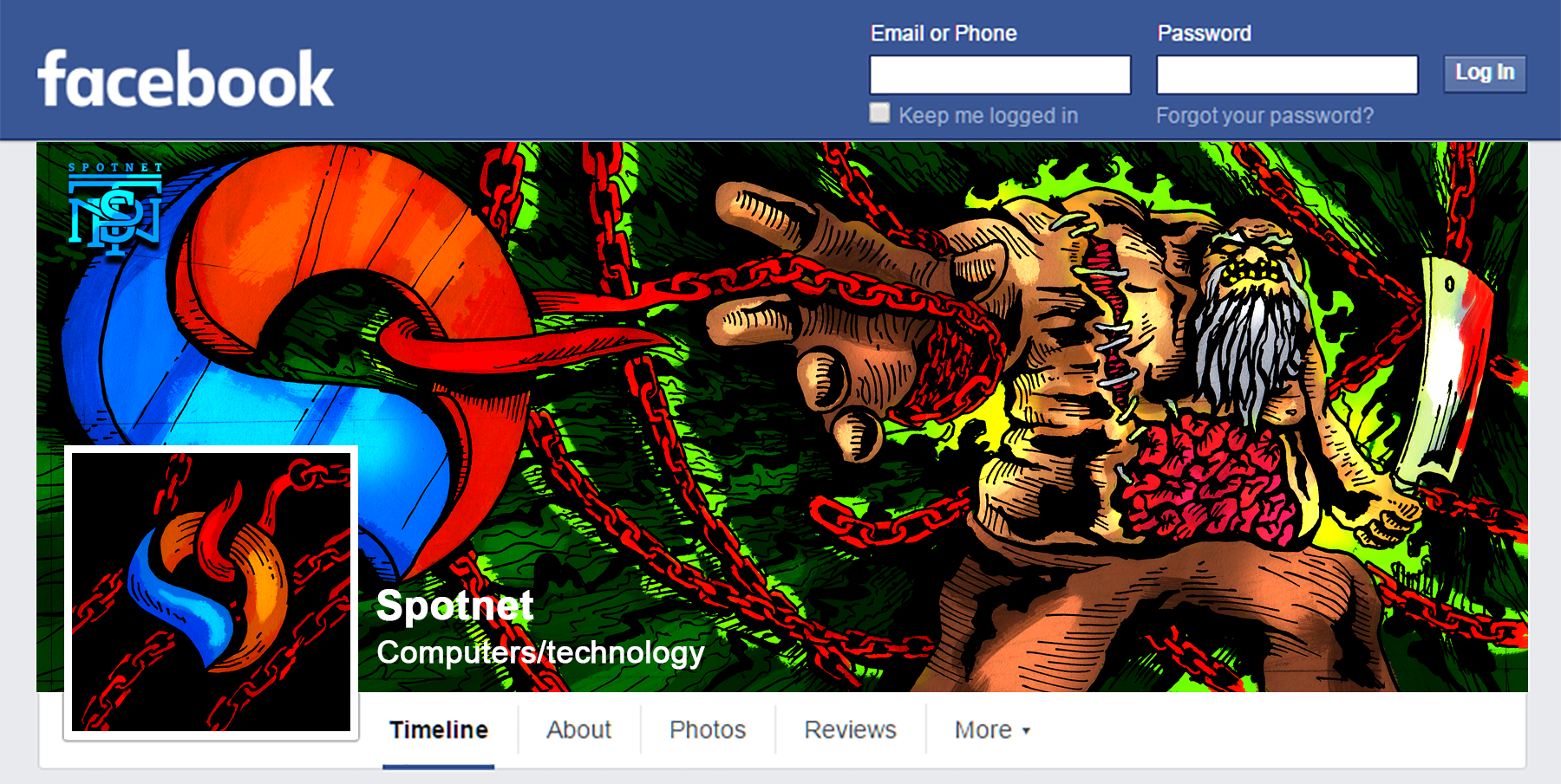 SPOTNET: Jugger and Pudge Facebook Cover