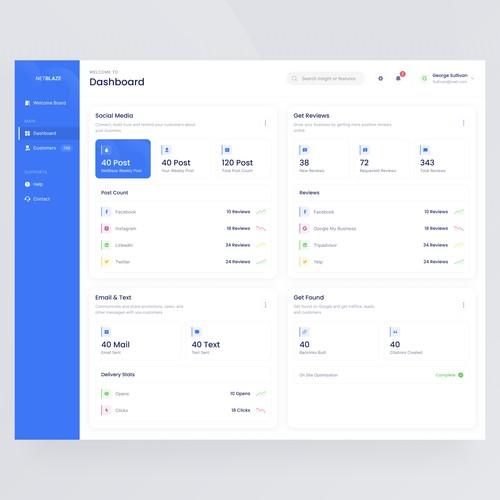 SaaS Dashboard for NetBlaze