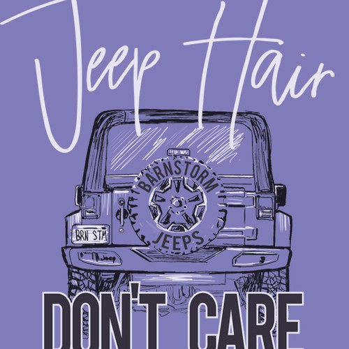 Jeep Hair Don't Care TShirt Design