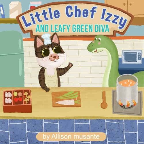 little chef and green friend