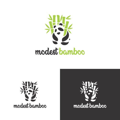 Modest Bamboo logo design