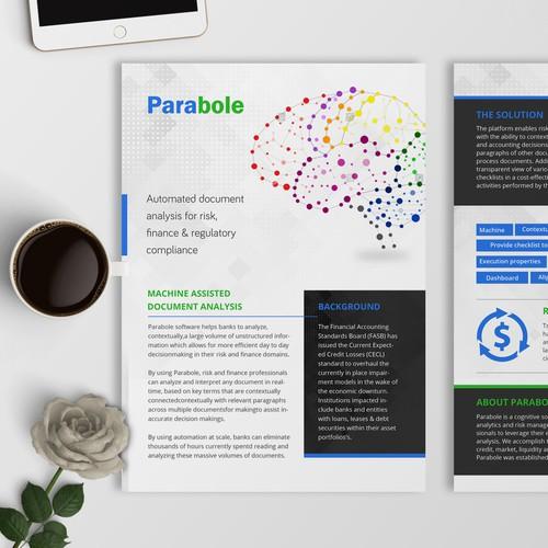 Simple and elegant flyer design for Prabole