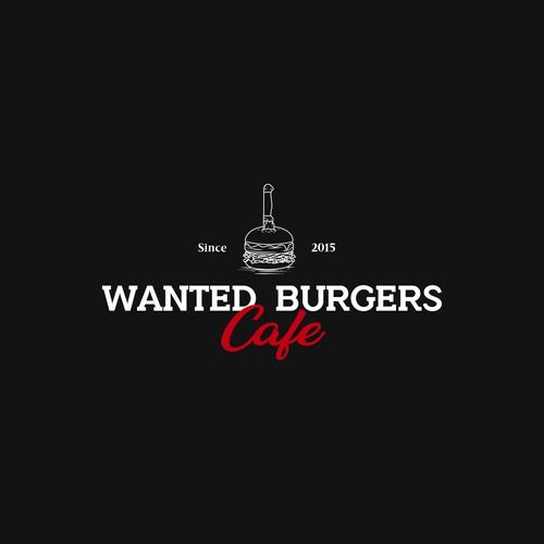 Logo design for a burger cafe