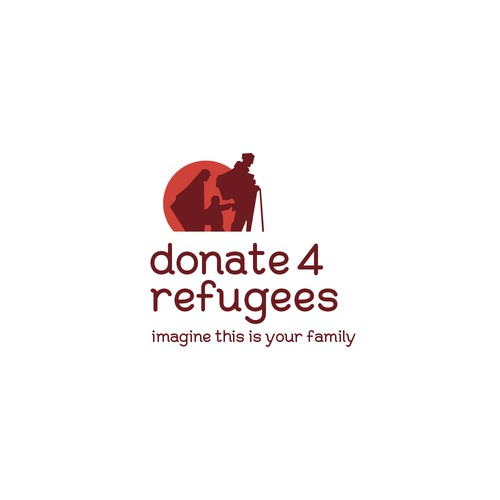 Donate 4 Refugees Sample Logo