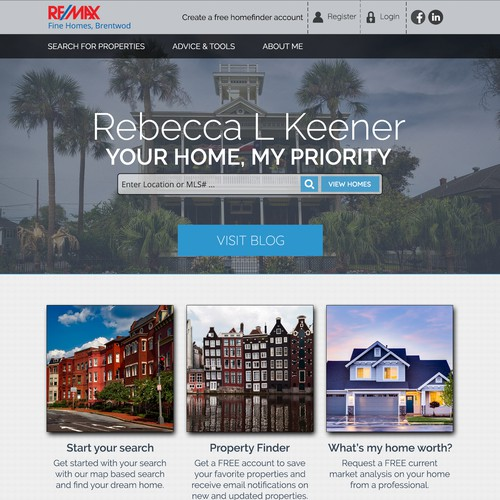 Website Concept for Property Agent/Dealer and Blogger.