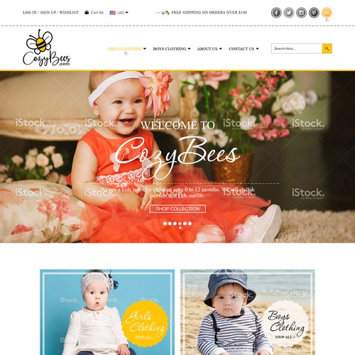 Website for Baby Clothing