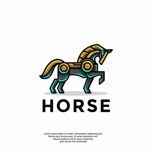 unique horse logo
