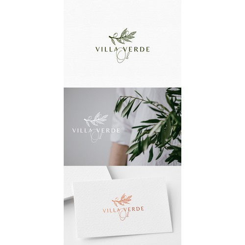 Logo design for olive oil business