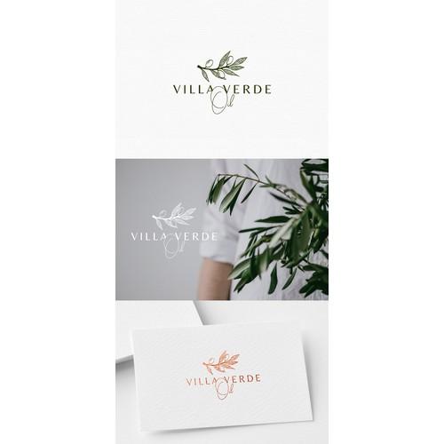 Logo design for olive oil business