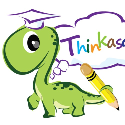 "illustration of Dragon for Kids ""Thinkasaur"""