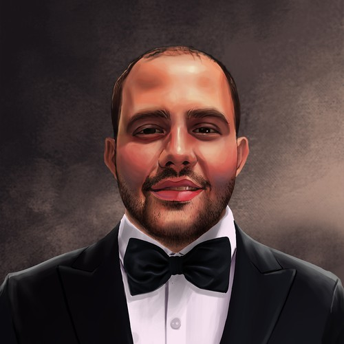custom portrait make handsome CEO